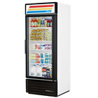 True GDM-26-LD White Glass Door Merchandiser with LED Lighting and White Trim - 26 Cu. Ft.