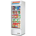 True GDM-19TF-LD White 27 inch Glass Door Merchandiser Freezer with LED Lighting and White Trim - 19 Cu. Ft.