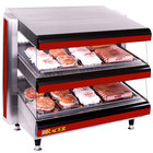 APW Wyott Racer DMXD-48H 48 inch Horizontal Countertop Double Shelf Merchandiser - 208V