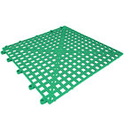 Cactus Mat 2554-GT Dri-Dek 12 inch x 12 inch Kelly Green Vinyl Interlocking Drainage Floor Tile - 9/16 inch Thick
