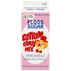 Great Western 1/2 Gallon Carton Pink Vanilla Cotton Candy Floss Sugar - 6/Case