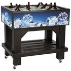 Black Texas Icer Jr. 2020 Insulated Ice Bin / Merchandiser with Shelf and Drain 36