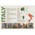 Hoffmaster PP112 10 inch x 14 inch Italia Paper Placemat - 1000 / Case