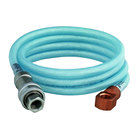 T&S B-2395 96 inch Flexible Vinyl Hose Assembly with Two Quick Disconnect Fittings