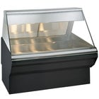 Alto-Shaam EC2SYS-48 S/S Stainless Steel Heated Display Case with Angled Glass and Base - Full Service 48