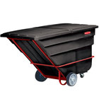 Rubbermaid FG104500BLA Black 2.5 Cubic Yard Tilt Truck (1900 lb.)