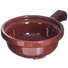 Carlisle 700828 Lenox Brown 12 oz. Polycarbonate Handled Soup Bowl - 24/Case