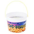 48 oz. Plastic Mini Donut Bucket with Handle - 160/Case