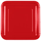 Creative Converting 463548 9 inch Classic Red Square Paper Dinner Plate - 180/Case