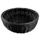 Carlisle 655303 Black 9 inch Woven Round Basket - 6 / Case