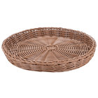 Carlisle 655425 Brown 11 inch Woven Round Basket - 6 / Case