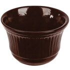 Tablecraft CW1453TC 16 oz. Terra-Cotta Cast Aluminum Condiment Bowl