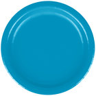 Creative Converting 793131B 7 inch Turquoise Paper Plate - 240 / Case