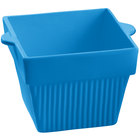 Tablecraft CW1480SBL 18 oz. Sky Blue Cast Aluminum Square Condiment Bowl