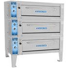 Bakers Pride ER-3-12-3836 55 inch Triple Deck Electric Roast / Bake Oven - 220-240V, 3 Phase