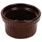 Tablecraft CW1610TC 10.5 oz. Terra-Cotta Cast Aluminum Souffle Bowl with Ridges