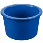 Tablecraft CW1660BL 17 oz. Cobalt Blue Cast Aluminum Condiment Bowl