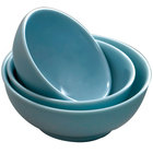 Blue Jade 1.3 Qt. Round Melamine Serving Bowl - 12/Case
