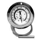 All Points 62-1038 2 inch Recessed Dial Refrigerator / Freezer Thermometer with 48 inch Capillary
