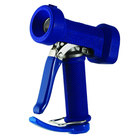 T&S MV-2522-22 Stainless Steel Front Trigger Water Gun with Blue Rubber Cover, 5/16 inch Flow Orifice, 3/4 inch Barb, and 1/2 inch NPT Threads