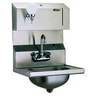 Eagle Group HSA-10-FDP Hand Sink with Gooseneck Faucet, Towel Dispenser, Soap Dispenser, and Basket Drain