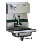 Eagle Group HSA-10-FLDP Hand Sink with Gooseneck Faucet, Towel Dispenser, Soap Dispenser, and Polymer Drain Lever