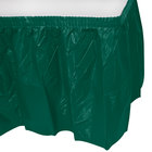 Creative Converting 743124 14' x 29 inch Hunter Green Plastic Table Skirt
