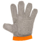 Victorinox 81505 saf-T-gard Orange Cut Resistant Stainless Steel Mesh Glove - Extra-Large