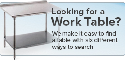 Looking for a Table? We make it easy to find a table with six different ways to search.