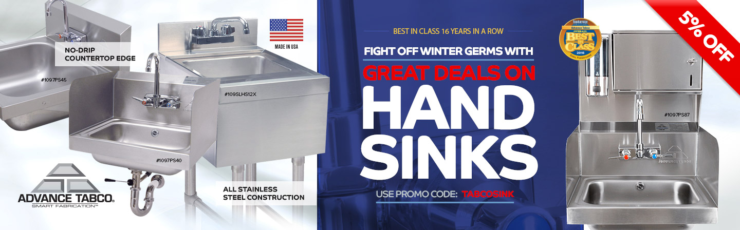 Advance Tabco Hand Sink Sale