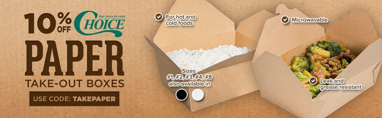 Choice Take-Out Boxes