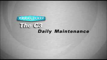 Turbochef C3: Daily Maintenance