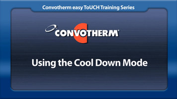Cleveland Convotherm: Cool Down Mode