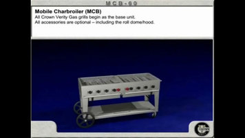 Features of the Crown Verity MCB-60 and MCB-72 Outdoor Charbroiler