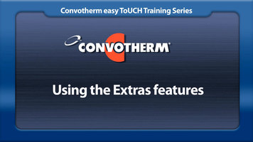 Cleveland Convotherm: Extras Feature