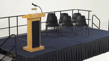 National Public Seating Stage Assembly