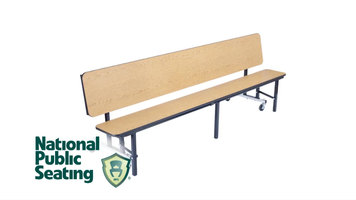 National Public Seating Convertible Table Bench