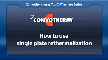 Cleveland Convotherm: Single Plate Rethermalization