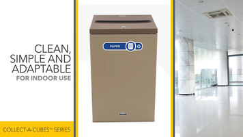 Rubbermaid Collect-a-Cube Recycling Receptacles