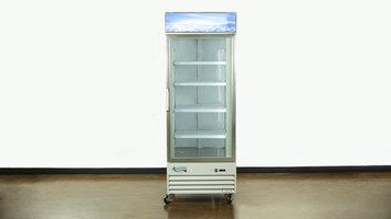 Avantco Swing Glass Door Merchandiser Freezer