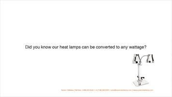 Eastern Tabletop Heat Lamps