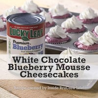 Lucky Leaf White Chocolate Blueberry Mousse Cheesecakes