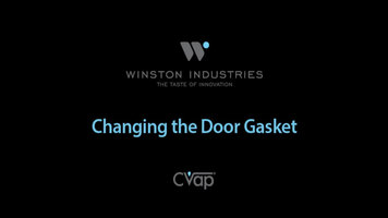 Winston CVAP: Replacing a Door Gasket