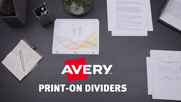 Avery Print-on Dividers