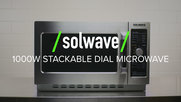 Solwave 1000W Stackable Dial Microwave