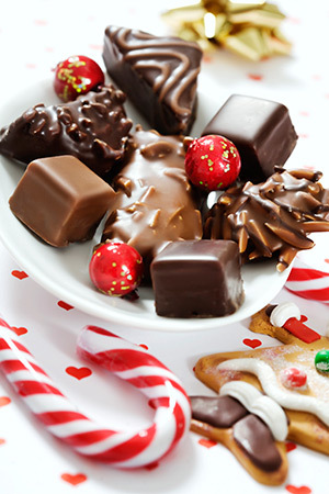 Holiday candies and chocolates