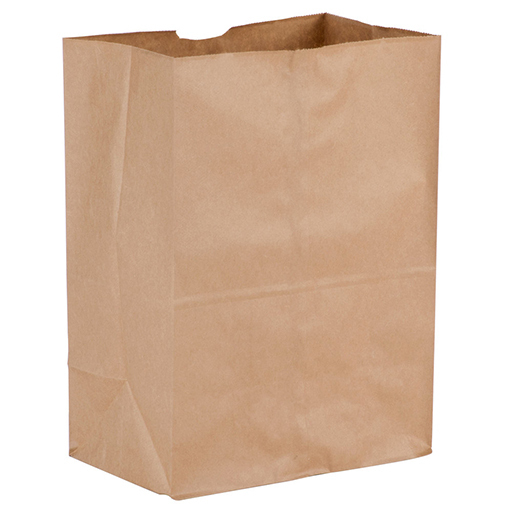 brown plastic grocery bags