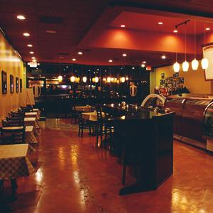 Interior of Pizza Shop