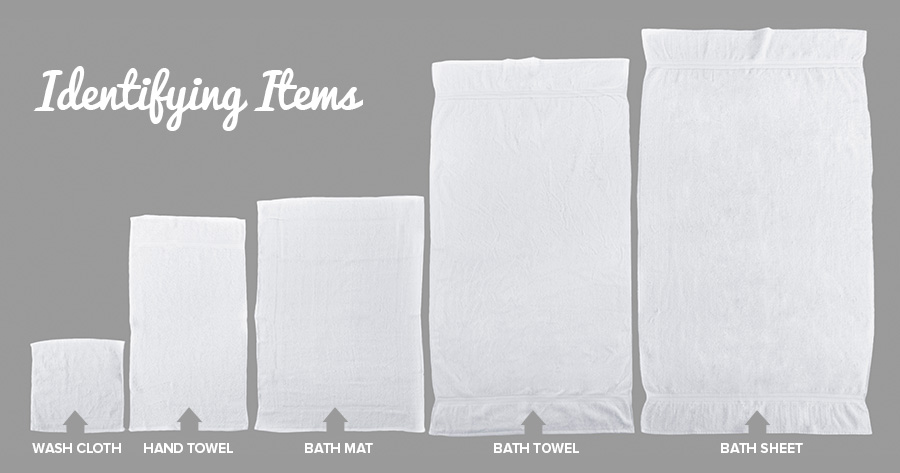 Types of towels used in hotels