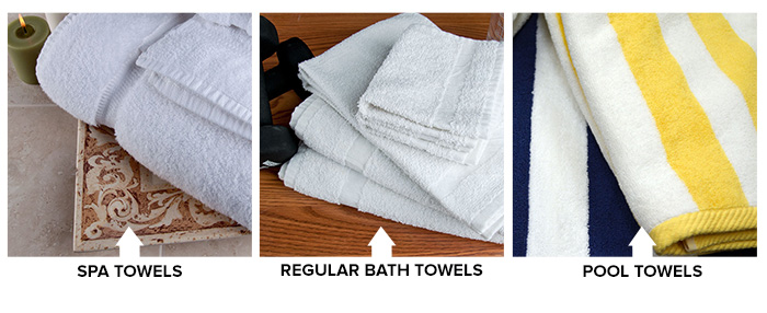 Spa Towels, Regular Bath Towels, Pool Towels